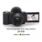 Máy ảnh Sony ZV-E10 với ống kính rời SELP1650 cảm biến APS-C - Máy ảnh làm vlog