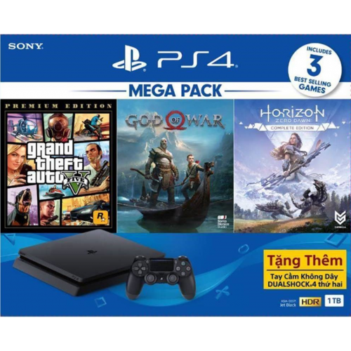 PS4 CUH-2218B MEGA2 Máy chơi game Playstation 4 bộ nhớ 1TB ( 2 Tay game DualShock)