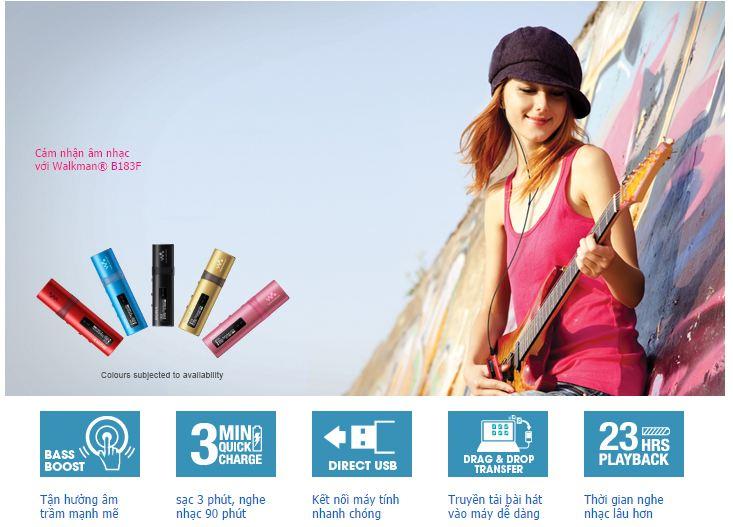 Máy nghe nhạc Sony NWZ B183F 4GB