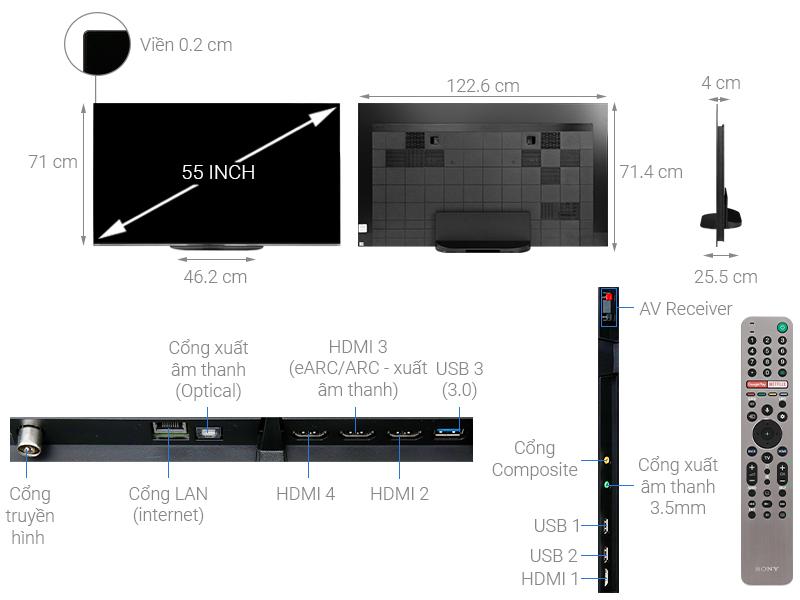 Tivi Sony KD-65A9G - OLED - 4K Ultra HD